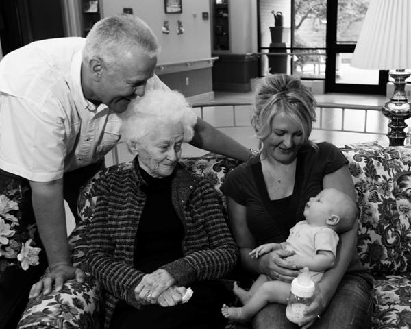 FourGenerations Grandma 082209 3 B&W blog