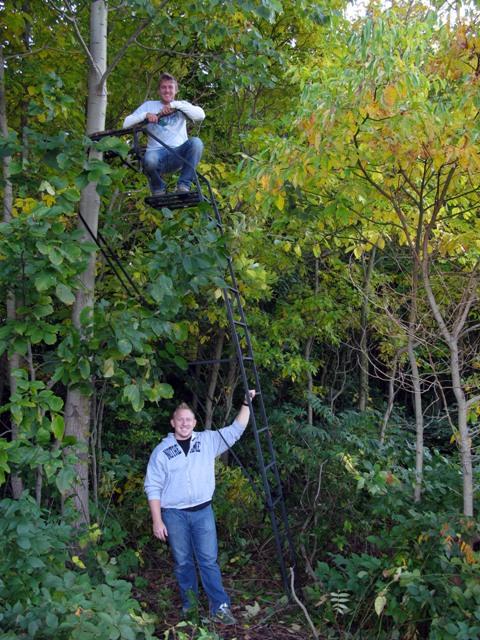 Aaron n John w Ladder Stand blog