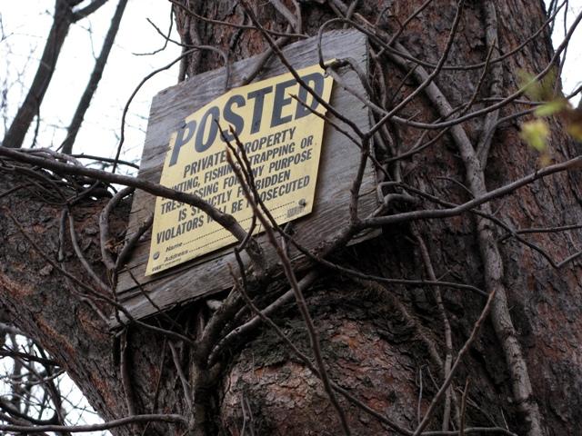 POSTED No Hunting Sign 111609 blog