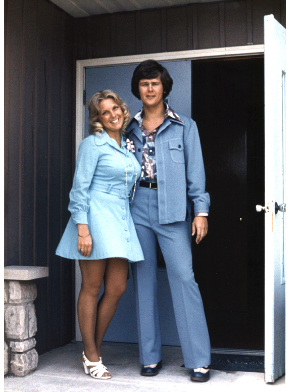 Mark and Sheila in blue EASTER '76 blog