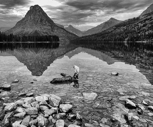 Two Medicine Lake 090313  1b b&w blog