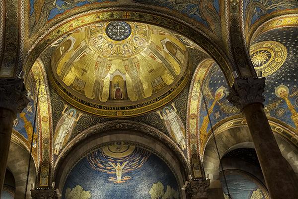 Basilica of the Agony 05 2014 Ceiling 1 blog